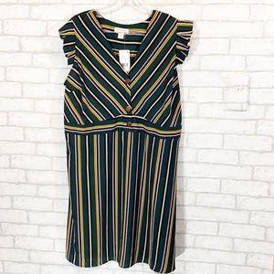 Monteau strip dress various sizes 1x or 2X